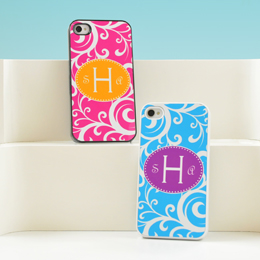 Scrolling Vine Personalized iPhone Cases