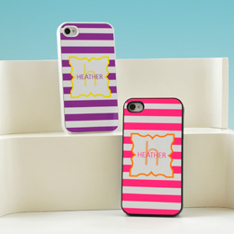 Modern Stripes Personalized iPhone Cases