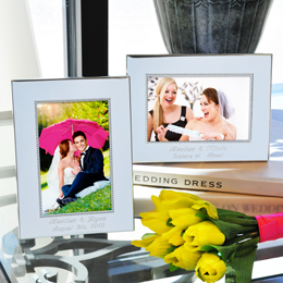 Beaded Silver Picture Frames