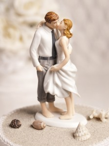 """Beach Get Away"" wedding cake topper"